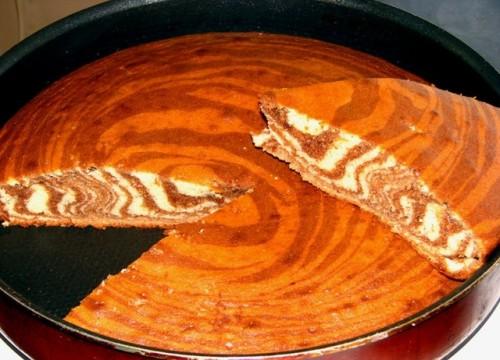 Рецепт: Пирог «Зебра»