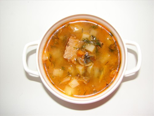 Рецепт: Суп из рыбных консервов